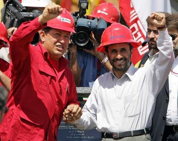 Chávez and Ahmadinejad Call for Breaking Free from Free Trade