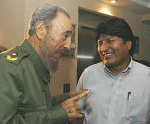 "Bolivia's Morales Finds Fidel Castro ""Very Lucid, Very Wise"""