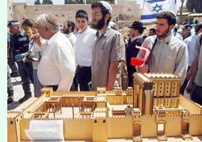نصب ماکت معبد سلیمان در نزدیکی مسجد الاقصی