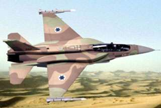 An Israeli warplane. A Hezbollah-affiliated lawmaker says the US is inciting Israel into another war on Lebanon.