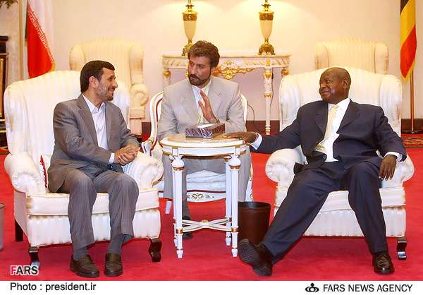 Pictures of Ahmadinejad in Uganda