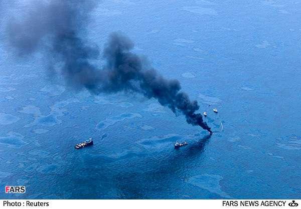 آلودگی زیست محیطی به علت نشت نفت در خلیج مکزیک