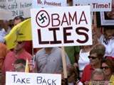 African Americans rally against Obama