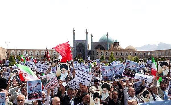 مظاهرات حاشدة فی اصفهان ضد جرائم آل خلیفة