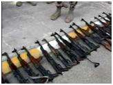 The confiscation of large quantity of advanced weapons smuggled from Iraq to Syria