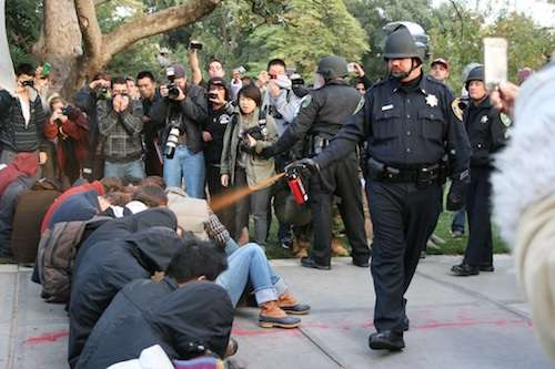 Video Spreads of UC Davis Cops Pepper Spraying Occupy Students