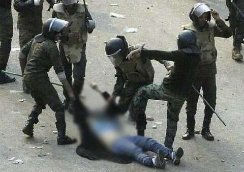 شاهد فیدیو و صور إعتدى الجیش المصری على النساء