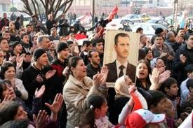 Syrians rally to support Asad amid Arab League