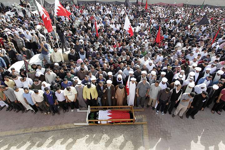 The king must go, Bahraini mourners say
