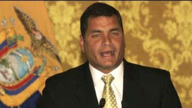 Ecuadorian president pardons media men convicted of libeling him