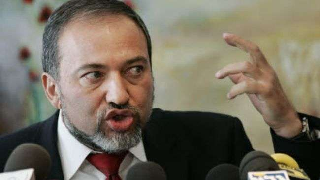 "Israeli Foreign Minister Avigdor Lieberman (shown) said on February 9 that ""Israel has a large selection of ways, when the world of international sanctions fails to persuade Iran to halt its nuclear program."""