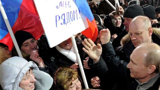 Putin claims victory in presidential election