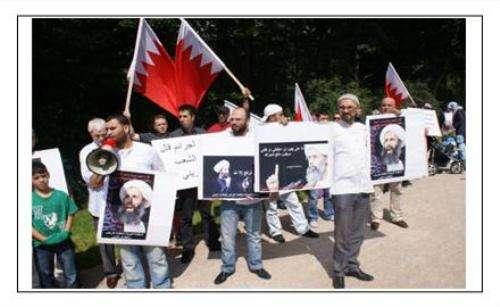 ناشطون یعتصمون أمام السفارة السعودیة فی برلین