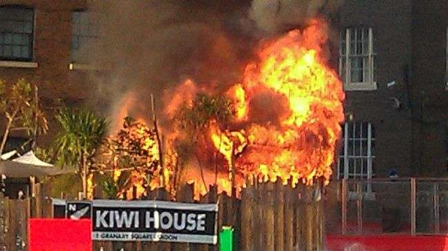 Olympic guest house caught in blaze