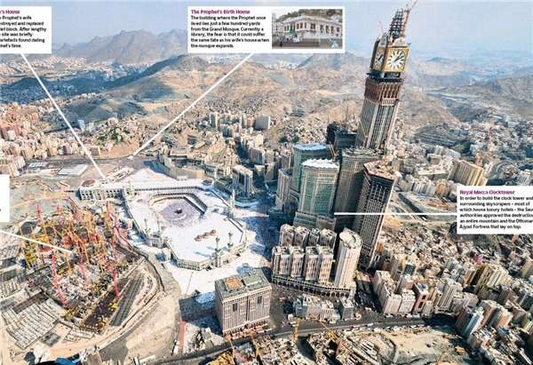 Denah pembangunan Makkah: Klik gambar untuk memperbesar