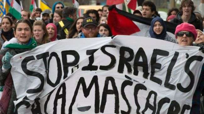 Canadians in several cities protest against Israeli attacks