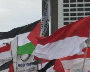 Demo dukung Palestina; karawangid.com