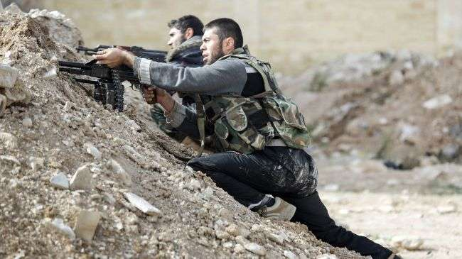 Syrian army clashes with militants, kills two leaders