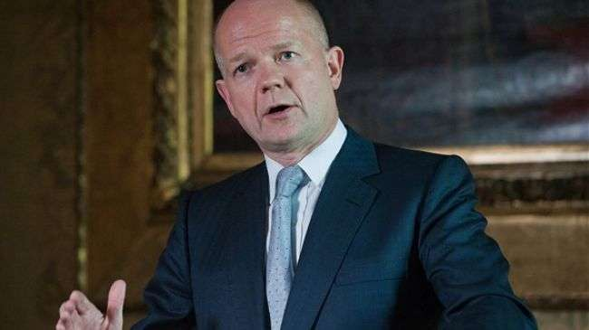 Hague stresses UK, allies intention of toppling Syrian president