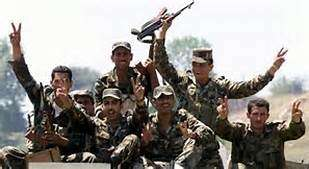 Tentara Suriah, merayakan kemenangan