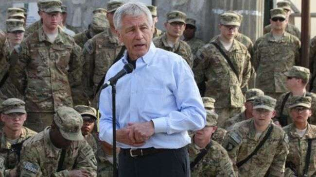 Chuck Hagel, Menhan AS di Afghanistan.jpg