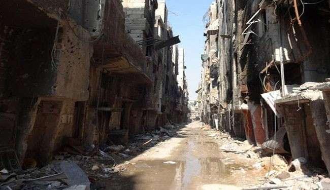 Kamp Yarmouk yang dihancurkan oleh Takfiri al-Qaeda (UNRWA)