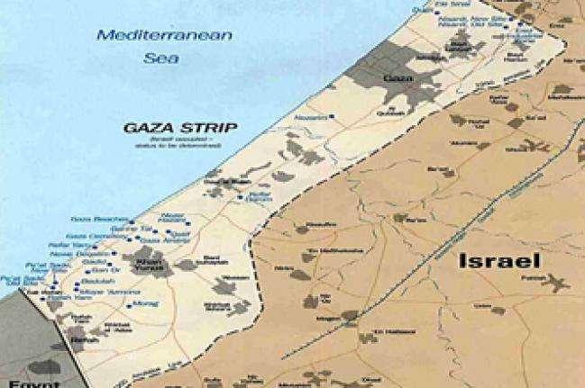 Peta Jalur Gaza