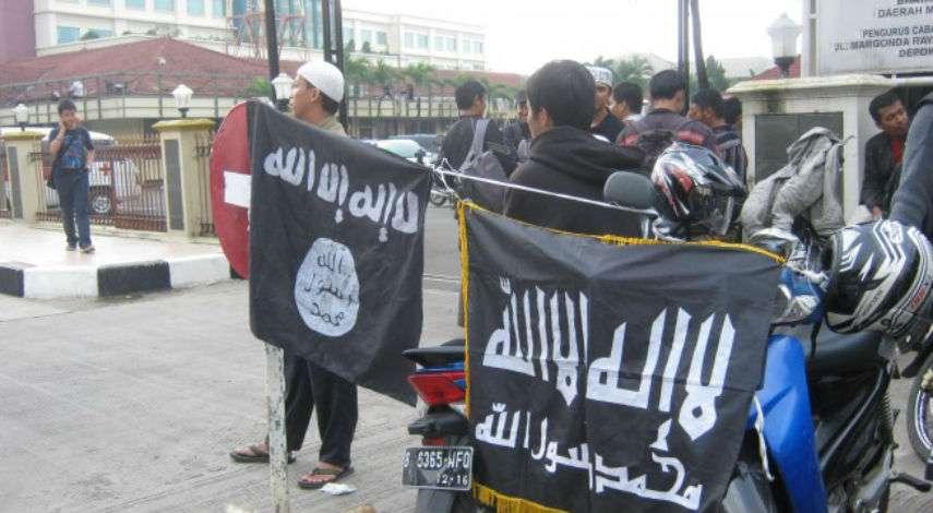 Foto ilustrasi gerakan Takfiri di Jakarta saat menggelar demo di Polsek Bekasi