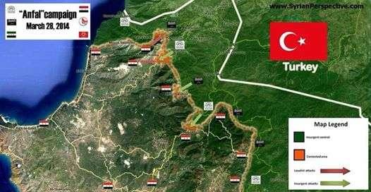 Peta perang baru yang dirilis pada Kamis, 28/03/14, oleh Syrian Perspective
