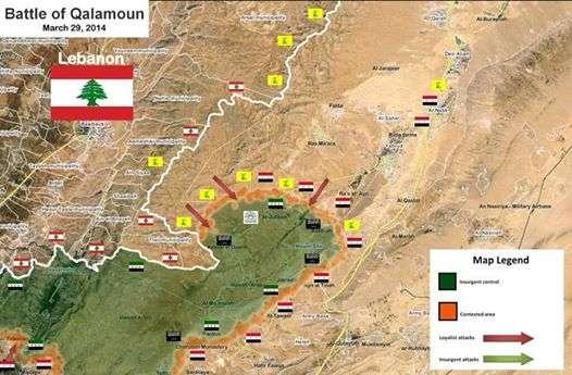 Peta perang di Qalamoun (Syria News)