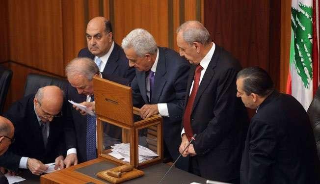 Parlemen Libanon saat pemungutan suara