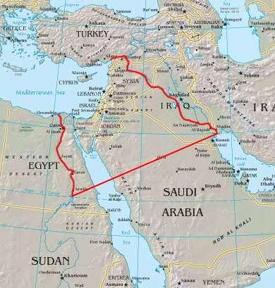 Peta Israel Raya