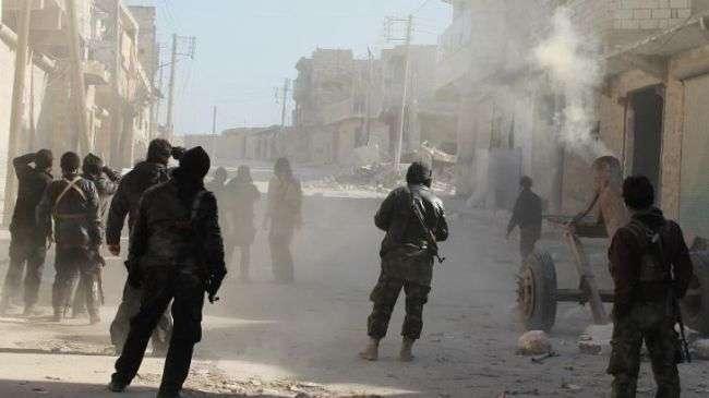 Front al-Nusra di desa Aziza, Suriah.jpg