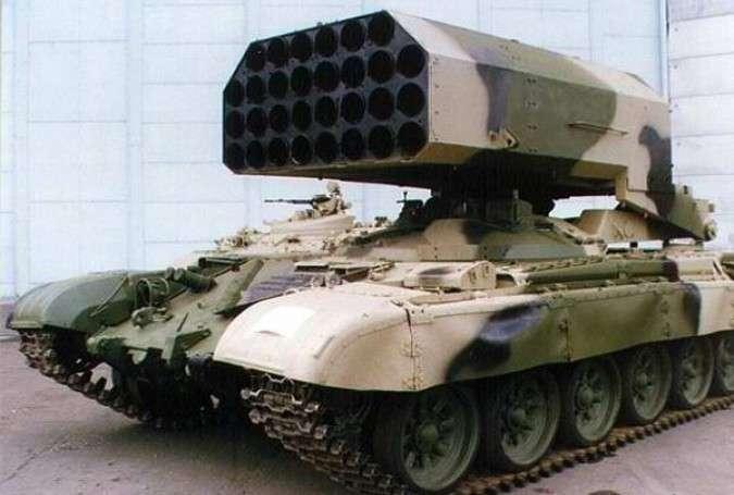 Peluncur roket model TOS 1 (Iraqi News).