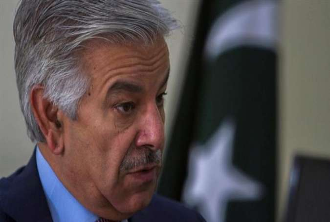 Menteri Pertahanan Pakistan Khawaja Asif (Press TV).
