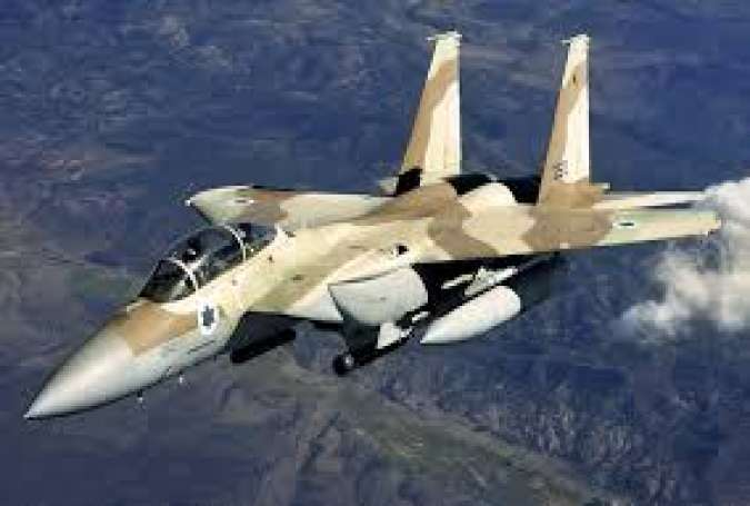Jet tempur Zionis Israel, menyerang Dataran Tinggi Golan Suriah.jpg