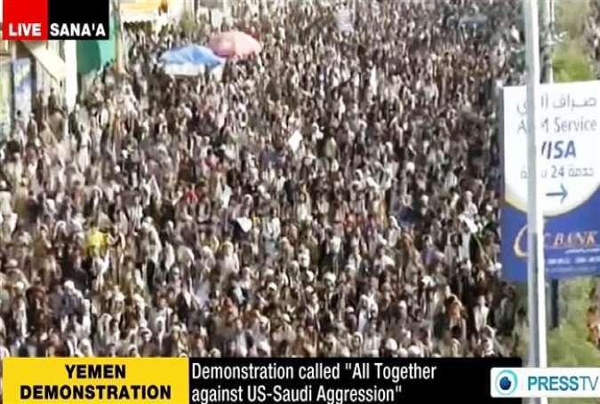 Ribuan Demonstran Yaman Kecam Agresi Saudi