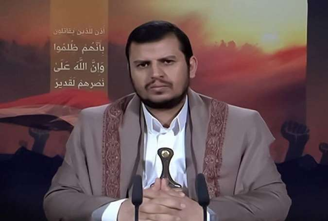 The leader of Yemen's Houthi movement, Abdul-Malik al-Houthi, delivering a speech on June 16, 2015.