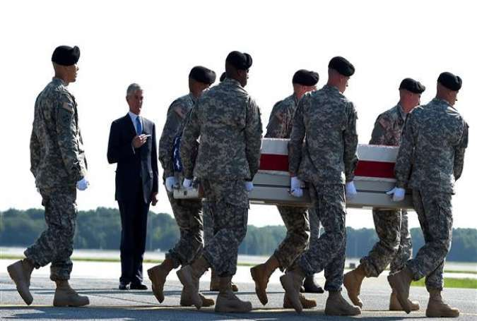 The remains of Major General Harold J. Greene, who was killed in Afghanistan on August 5, 2014, is transferred to the Dover Air Force Base in Delaware on Aug. 7, 2014.