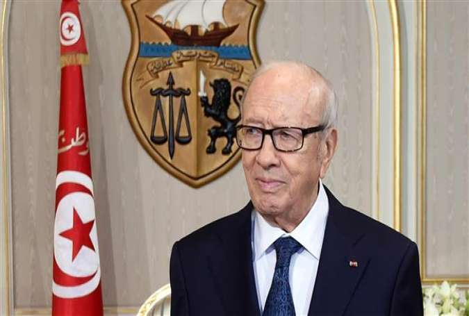 The office of Tunisian President Beji Caid Essebsi (seen) had ordered a state of emergency on July 4, 2014.
