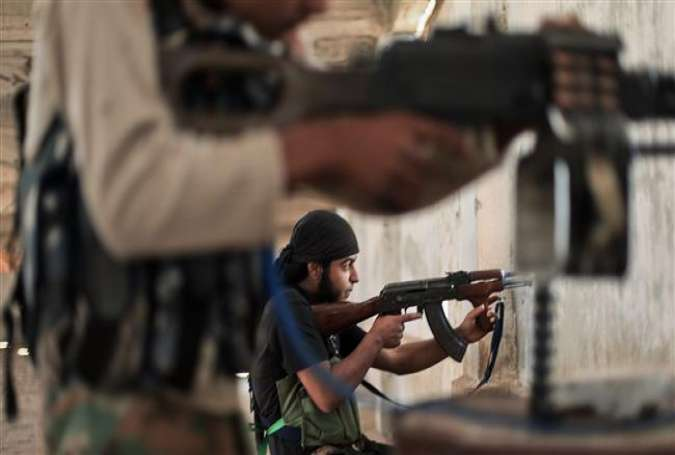 ISIL-recruited terrorists firing away their weapons in Syria