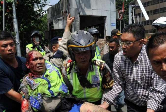 At least 8 dead as bombs hit Jakarta
