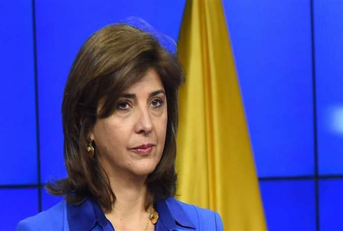 Colombian FM Maria Angela Holguin (pictured) welcomes the UN Security Council resolution.