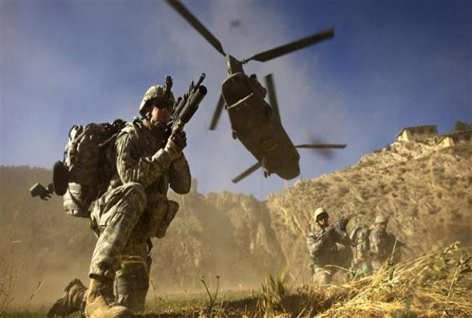US Army soldiers on the Pakistan-Afghan border.