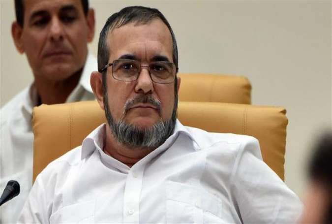 Head of the Revolutionary Armed Forces of Colombia (FARC), Rodrigo Londono, known by his nom de guerre Timochenko.