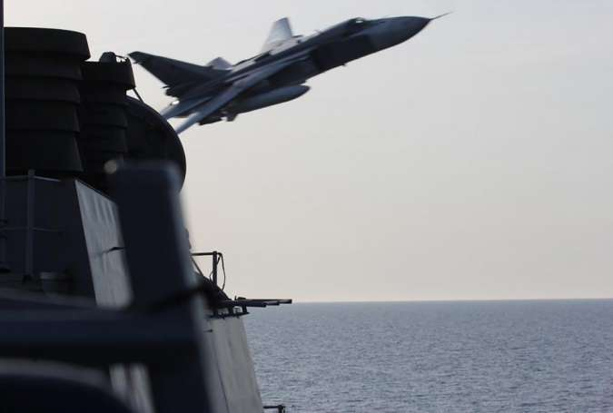Russian jets fly over U.S. ship