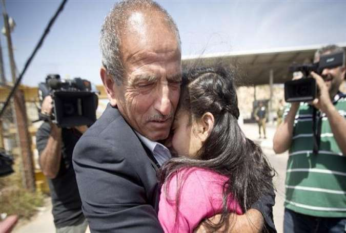 Israel's youngest prisoner reunited with her family