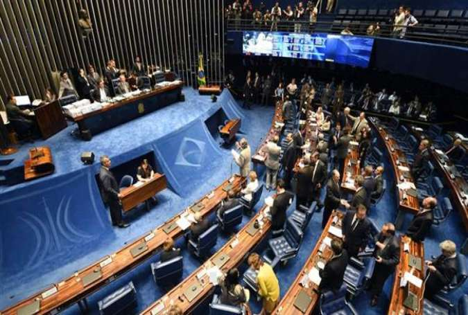 The Brazilian Senate is holding a session to read the lower house