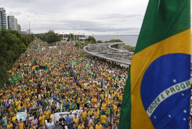 Brazilians rally in Sao Paulo to support President Rousseff