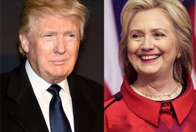 ترامپ و کلینتون پیروز انتخابات ایالات پنجگانه شدند